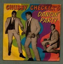 CHUBBY CHECKER 45 rpm Record c 1962 Let's Twist Again + pictorial sleeve